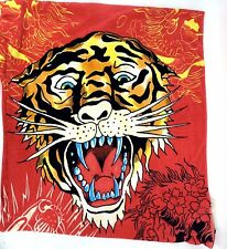 ED HARDY Beach Towel Tiger Oversized Large 67 x 39 Inches Christian Audigier