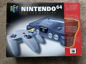 Nintendo 64 Console - NIB - New in Box - Complete and in Original Shrink Wrap
