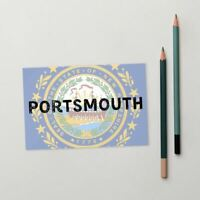 Portsmouth New Hampshire State Flag Background Standard Postcard