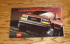 Original 1992 GMC Truck Full Line Foldout Sales Brochure 92 Jimmy Safari Sierra