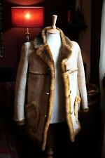 RARE Stunning Womens Sheepskin Shearling Coat Jacket Handmade in England