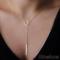 EG_ HK- Women Trendy Golden Color Y Shaped Choker Alloy Statement Jewelry New Ne