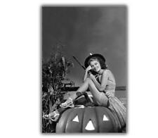 "Anne Nagel VINTAGE HOLLYWOOD HALLOWEEN pinup ww2 Photo Glossy ""4 x 6"" inch A"