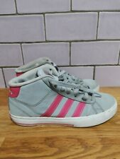 Adidas Grey And Pink Neo Label Trainers Size UK 4 VGC next day despatch!