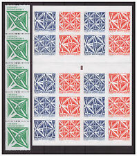 Sweden 2012 Geometric Figures  Art Self Adhesive booklet & strip 5 coil stamps