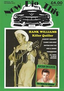 NOW DIG THIS MAGAZINE Issue 393 Hank Williams, Ricky Nelson, 1950s Rock 'n' Roll