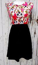 Pink Maneki Neko Lucky Cat Dress - Size 10 12 14 - Skater Rockabilly Japanese