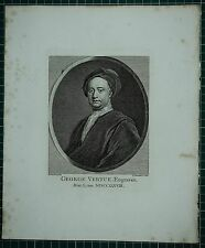 1738 DATED ANTIQUE PRINT ~ GEORGE VERTUE ENGRAVER