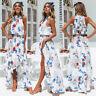Women Floral Long Maxi Dress Beach Holiday Casual Summer Sundress AU S-XL