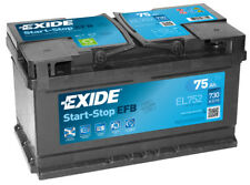 EL752 4 Year Warranty Exide Start Stop EFB Battery 75AH 730CCA