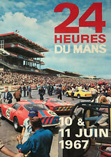 Reproduction Motor Racing Poster, Le Mans 24 Hour - 1967, Home Wall Art