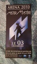 -M- (Mathieu CHEDID) Flyer PROMO cartonné Mister Mystère Tour 2010
