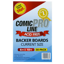 More details for comic pro line 56pt premium heavy duty acid-free backing boards -- current size