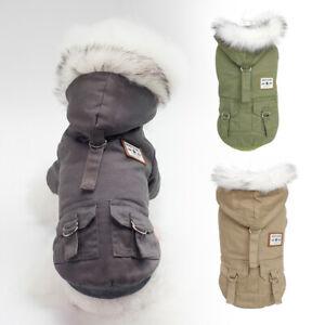 Pet Winter Clothes for Small Medium Dogs Jacket Fleece Hoodie Boy Girl Fur Coats