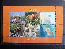 Bären 03 bears Eisbären Grizzli 2011 Tiere animals Fauna Natur postfrisch ** MNH