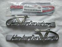 Harley Davidson Tank Embleme Tankschilder mit Adapter Kit Tankembleme 61814-55T