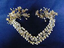 Antique Victorian Wax Bridal Veil Headpiece Flowers Berries Millinary