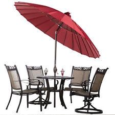 Parasol Patio Umbrella 8.5 Ft Patio Table Umbrella W/ Push Button Tilt and Crank
