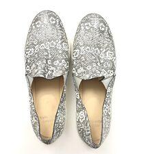 New STUART WEITZMAN Snake Gray Sneakers Shoes Slip On Size 10 $395