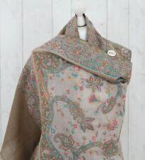 Soft Ladies 100% Pure Pashmina Embroidered Wool Shawl Wrap Kani Indian Shawls UK