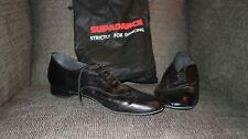 Supadance Men's Ballroom Dance Shoes Size 10 Black Leather England Made Dancer