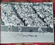 Maury Wills Hand SIgned 8x10 Photo Los Angeles Dodgers