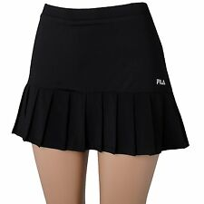 NEW FILA Black Pleated Tennis Short Skirt  Size Large