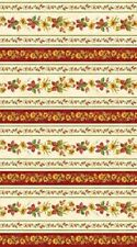 Northcott Give Thanks by Deborah Edwards 20549 11 Floral Stripe  Cotton Fabric