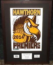 Hawthorn 2014 Weg Art Poster *Signed*