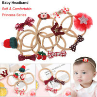 Style Bowknot Baby Headband Christmas Hair Band Nylon Hairband Hair Accessories