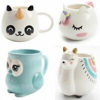 Cute Animal Ceramic Mug Creative Hand Painted 3D Mugs With Handle Coffee Tea Cup