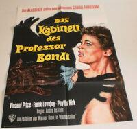 A1-Filmplakat DAS KBINETT DES PROFESSORR BONDI ,VINCENT PRICE,FRANK LOVEJOY