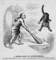 TAMMANY TIGER BY THOMAS NAST 1885 CIVIL SERVICE REFORM OFFICE SEEKERS NAST