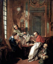 Art Beautiful Oil painting francois boucher The Afternoon Meal happy family 36""
