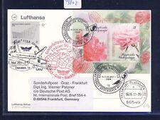 49802) LH  SF Graz - Frankfurt 16.5.2011, cd Mazedonien SPA Essen Blumen flower