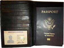 New Lamb skin USA Leather passport case wallet credit card case ID holder BNWT