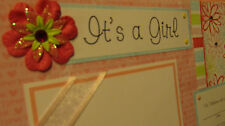 Premade Baby Girl 12x12 Scrapbook Pages for your Family and Album  ***20 Pages
