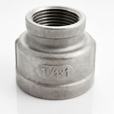 "Nipple 1-1/2"" x 1"" Female Stainless Steel 304 Threaded Reducer Pipe Fitting NPT"
