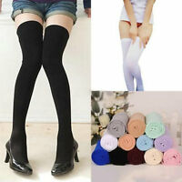 Women Ladies Over The Knee Thigh High Socks Warm Boot Stockings Leggings Girls