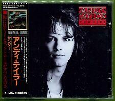 Andy Taylor THUNDER Japan 17-track CD w/OBI & 8-pg Booklet Sex Pistols DURAN AOR