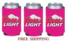 COORS LIGHT MOUNTAINS 3 BEER CAN COOLER COOZIE COOLIE KOOZIE HUGGIE PINK NEW