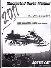 2011 ARCTIC CAT SNOWMOBILE TZ1 TURBO LXR LTD PARTS MANUAL P/N 2258-778  (767)