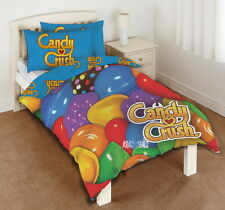 Candy Crush Solo PANEL duvet cover bed Set Regalo Nuevo Saga Dulces Arco Iris