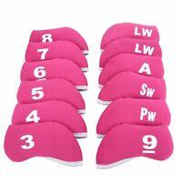 12pcs Right /Left Hand Neoprene Golf Iron Cover Iron Club Headcovers Protectors