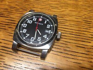 Wenger 7297X/T Stainless Steel Quartz Watch, Swiss Military