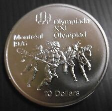 CANADA - 10 DOLLARS 1976 - JEU INDIEN - JO MONTREAL 76 - ELIZABETH II  Argent
