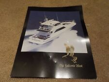 THE FALCON'S NEST 2001 65' VIKING ENCLOSED BRIDGE CONVERTIBLE CHARTER BROCHURE