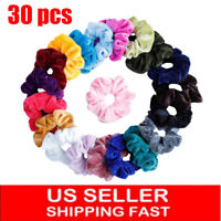 30Pack Women Girl Hair Scrunchies Velvet Elastic Hair Bands Scrunchy Hair Ties