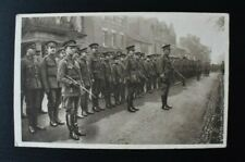 More details for vintage postcard british military welsh troops on parade at oswestry unposted