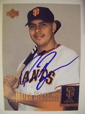 JULIAN BENAVIDEZ signed GIANTS 2001 Upper Deck baseball card AUTO DIABLO VALLEY